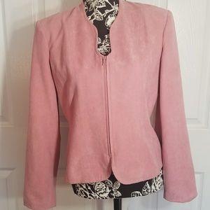 2 for $25 Mauve Pink Suede Dressbarn Blazer Jacket